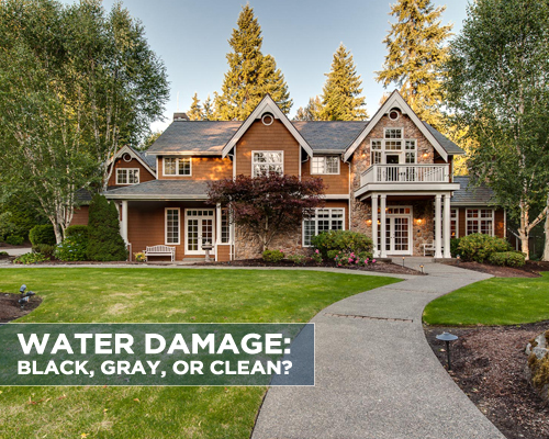 Water Damage: Black, Gray, or Clean?