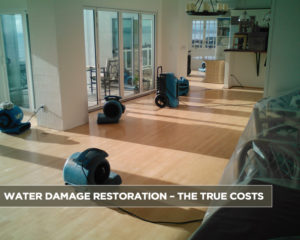 Water Damage Restoration – The True Costs