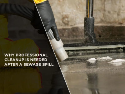 Why Professional Cleanup is Needed After a Sewage Spill