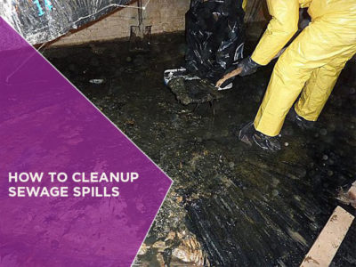 How to Cleanup Sewage Spills