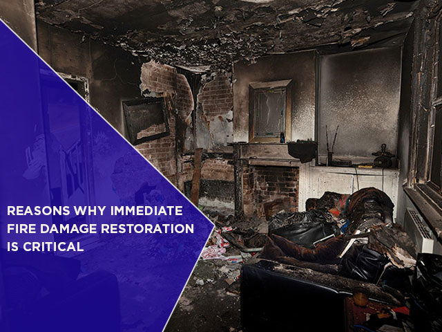 Reasons Why Immediate Fire Damage Restoration Is Critical