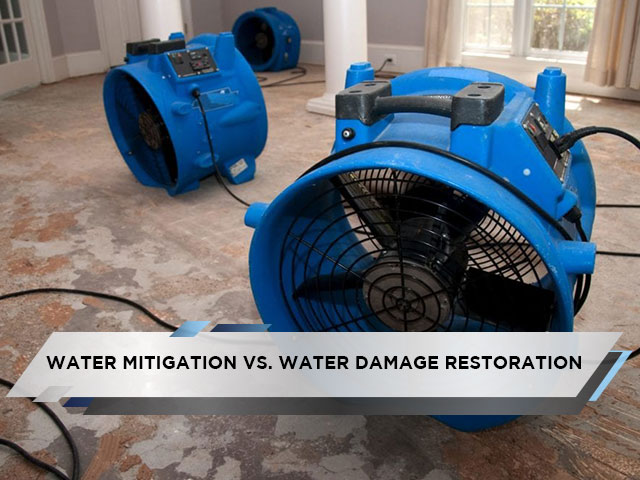 Water Mitigation Vs. Water Damage Restoration
